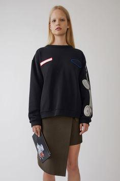 Acne Studios Fire Black Phone Print 1500x 001 Fashion Studio, Acne Studios,  Printed Sweatshirts fbc75fc6db2
