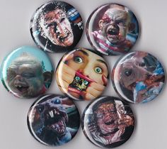 7 Dead Alive Pinback Buttons