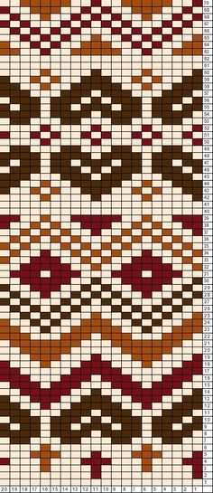 Discover thousands of images about Tricksy Knitter Charts: Brown chart copy Tapestry Crochet Patterns, Fair Isle Knitting Patterns, Fair Isle Pattern, Bead Loom Patterns, Knitting Charts, Knitting Stitches, Knitting Designs, Stitch Patterns, Fair Isle Chart