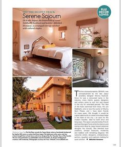 The beautiful @28kothi has been featured in @elledecor! Nur Kaoukji our creative director  decorated the beautiful guest house. #ecru #ecruonline #guesthouse #travel #Jaipur