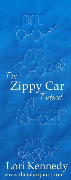 The Zippy Car-A Machine Quilting Tutorial