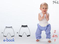 Ebook Baby Hose Modell Brek Mädchen/Junge. Schnittmuster mit Nähanleitung. Einfaches Schnittmuster für Anfänger von pattern4kids auf Etsy