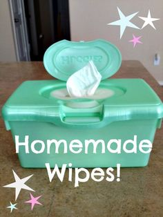 """The """"Winey"""" Mom: Homemade Wipes: In a Wipes Container"""