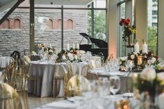 With its gorgeous architecture and airy rooms, the Royal Conservatory of Music was the perfect wedding venue for Hayley and Scott's big day. Wedding Venues, Wedding Ideas, Conservatory, Big Day, Perfect Wedding, Airy Rooms, Table Settings, Romantic, Table Decorations