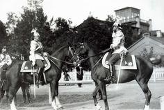 Nicholas II takes Parade .Petergof 1904