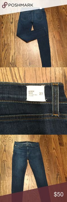 """Hudson Midrise Nico Super Skinny Ankle Jeans These have a 28"""" inseam. They are stretchy and in really good condition. They are too big for me. Hudson Jeans Jeans Skinny"""