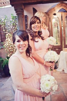 Bridesmaids in Donna Morgan dresses photo by Lindsey Cahill Photography