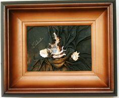 Obraz ze sk�ry muszla morska prezent, abstrakcja