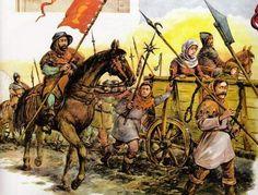 1437-14?? Guerras Husitas. Columna de carros en marcha.  Fortress,