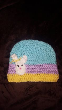 Check out this item in my Etsy shop https://www.etsy.com/listing/481496473/easter-beanie