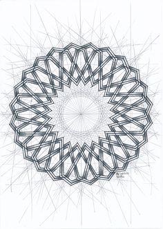 #islamicdesign #islamicpattern #arabianart #geometry #symmetry #handmade #mathart #regolo54 #escher #escher #circle #disk