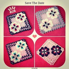 Coasters perler beads by season322
