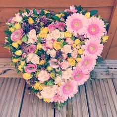 Heart tribute made with love