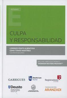 Resultado de imagen de Culpa y responsabilidad / Lorenzo Prats Albentosa, Gema Tomás Martínez (coordinadores). - 2017
