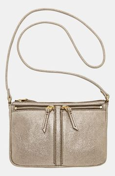Metallic gold cross body.