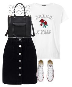 """Untitled #4511"" by keliseblog ❤ liked on Polyvore featuring Topshop, Miss Selfridge, Converse, Rebecca Minkoff and ASOS"