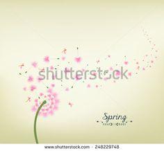 Blossom dandelions into spring vintage