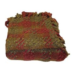 Woven Workz // Manchester Merlot Throw Blanket