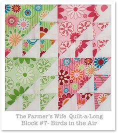 Farmer's Wife Quilt-a-Long - Block 7 by Happy Zombie, via Flickr
