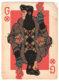 Super wicked!  Cause dey don't make 'em like Gambit anymore, chére.   Drawing by Jake Wyatt