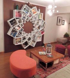 Such a cool idea for a book shelf!