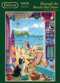 Jumbo Games Falcon de Luxe Through The Beach Hut Door Jigsaw Puzzle (500-Piece): Amazon.co.uk: Toys & Games