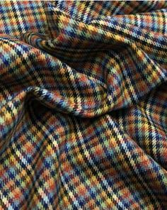 Pure Wool Donegal Tweed Fabric - Tiny Check Multi