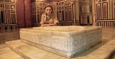 Farah Pahlavi at the Shah's Resting Place in Cairo July 2008