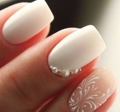 5 Simple Nail Art Designs You Can Do Yourself 35 Simple Ideas for Wedding Nails Design 1 Simple Wedding Nails, Natural Wedding Nails, Wedding Nails Design, Simple Nails, Wedding Nails Art, Nail Design, Simple Nail Art Designs, Easy Nail Art, Cute Nails