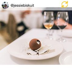 Thanks @jessiebiskuit great shot! Menu change with new head chef @chef_ollie_ @stokehousecity 'The Sphere' filled with milk sorbet Buccaneer tea mousse and coconut pearls in a nest of coconut panna cotta milk skins and puffed milk. Better get tempering @misskyoko_m  #eatdessertfirst #melbournefood #valrhona #dessert #pastrychef #theartofplating #gastroart #pastrycheflife #chefsofinstagram by chloethomas_chef