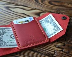 Diy Wallet, Small Wallet, Leather Wallet Pattern, Front Pocket Wallet, Wallets For Women Leather, Minimalist Wallet, Credit Card Wallet, Gifts For Him, Men's Briefcase