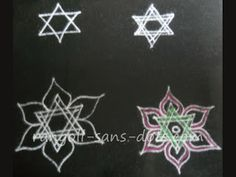 easy rangoli design star shape