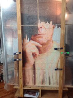 Injecting Paint in Bubble Wrap to Create Pixelated Portraits - My Modern Metropolis