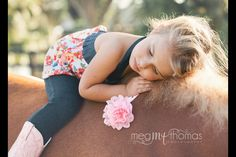 Children's photography / little girl pose / equestrian / horse session / family photography ideas