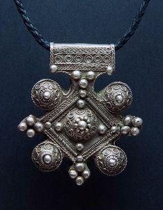 Morocco | Silver Berber Talisman Cross | ca. 1st half of the 20th century | 239€