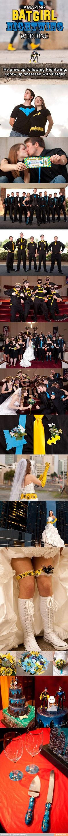 This would be cool if it was a cat women and batman wedding :)