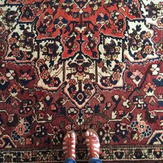 Newest rug purchase. #thinkillkeepthisone #antiquerug #serapi #oushak