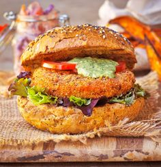 Vegan Spicy Patty with Pink Slaw