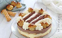 Torta Saint Honore gelato facile, ricetta senza cottura in forno