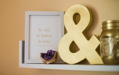 b is for bonnie design Emerson gold foil print via Sparkling Footstep's office makeover