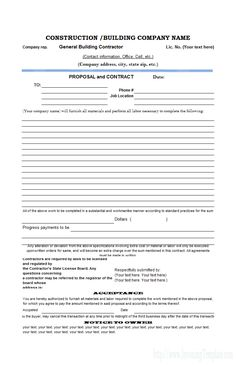 Printable sample business proposal template form forms and free construction proposal template construction proposal template cheaphphosting Gallery