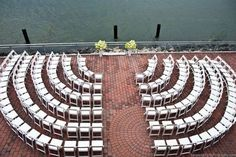 Arrange seats in a circular pattern around the couple so everyone can see the ceremony