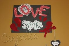 love stinks book display