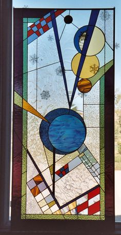 Stained Glass Denver | Geometric Stained Glass Patterns Colorado | Abstract Stained Glass Northern Colorado - Sue Thomas Stained Glass Artist