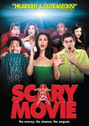 Scary Movie:  Directed by Keenen Ivory Wayans. With Anna Faris, Jon Abrahams, Marlon Wayans, Carmen Electra. A year after disposing the body of a man they accidently killed, a group of dumb teenagers are stalked by a bumbling serial killer. (2000) http://www.reallygreatstuffonline.com/scary-movie/