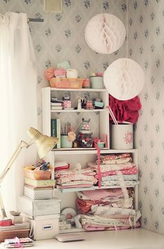 I am so in love with this little workspace!