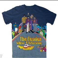 Beatles T-Shirt: The Beatles Yellow Submarine Sublimation Dye T-Shirt