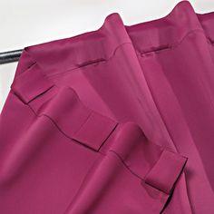 Cream Curtains, No Sew Curtains, Hanging Curtains, Sheer Curtains, Window Curtains, Window Coverings, Window Treatments, Roman Shades Kitchen, Rideaux Design