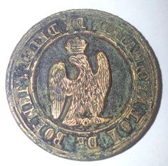 Stempel van koper Franse tijd  Zaltbommel en Driel 1811