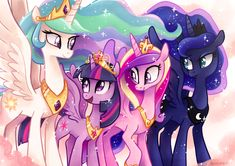 Has anyone besides me notices that Princess Celestial and Princess Luna both have one separate curly hair blob things?